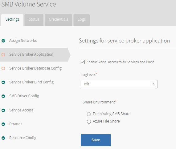 Service broker application