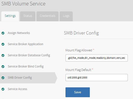 Installing and Configuring SMB Volume Service for PCF | Pivotal